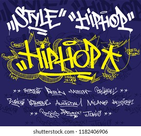 Graffiti Hiphop Style Typography