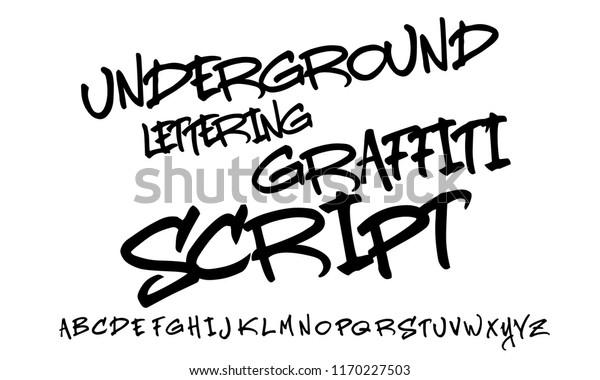Graffiti Lettering Script Expressive Letters Cool Stock
