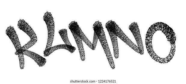 Graffiti spray font alphabet. Spider font. Vector illustration Eps 10