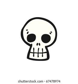 graffiti style skull cartoon