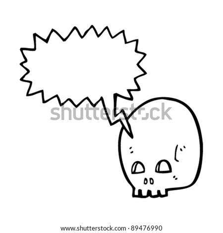 Graffiti Style Skull Speech Bubble Stock Vector Royalty Free