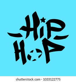 Graffiti tag hip hop. Vector art.