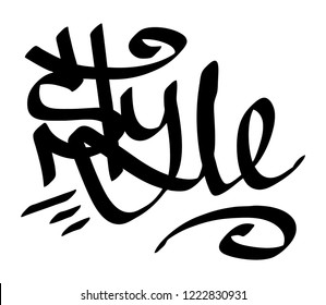 Graffiti tag style on a white background. Vector art.