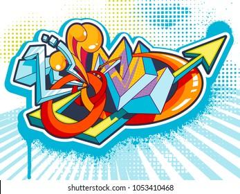 Graffiti urban colorful vector background