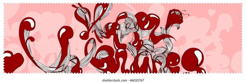 graffiti with valentine's