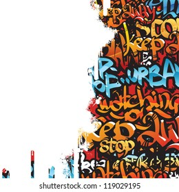 graffiti vector background for design or for simple text