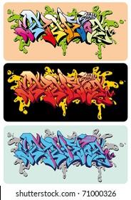 Graffiti vector sketch design, word Selektor.