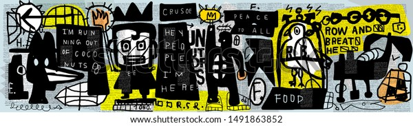 Graffiti, which consists of many characters.