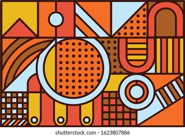 Grafic geometrical backgrounds, seamless vectoral pattern