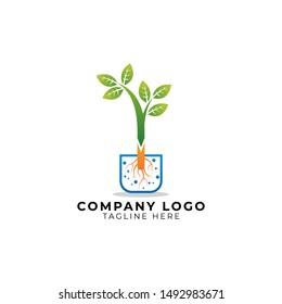 Grafting and budding plants with multiply plants method logo vector icon ilustration