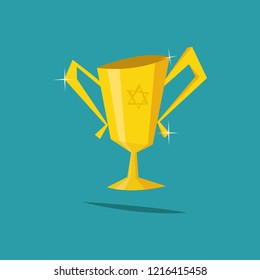 Grail holy.Vector Chalice flat Illustration.
