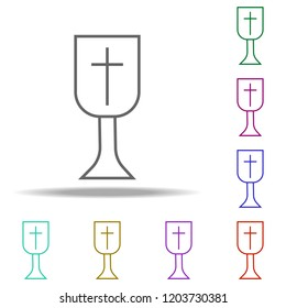 Grail outline icon. Elements of religion in multi color style icons. Simple icon for websites, web design, mobile app, info graphics