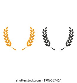 Grain icon. Vector illustration in flat design