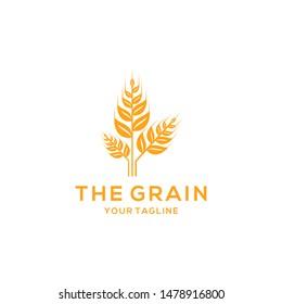 Grain Logo Design Vector Template