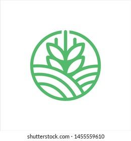 grain logo vector illustration graphic line art premium download