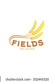 Grain logo. Wheat symbol