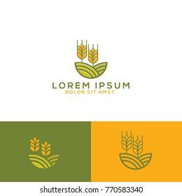 grain organic logo template download