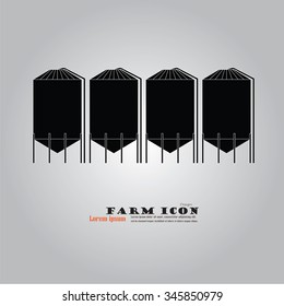 grain silo.silo.vector illustration.
