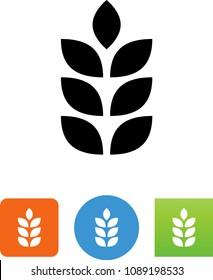 Grain Wheat Crops Vector Icon