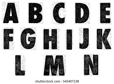 Grained alphabet.