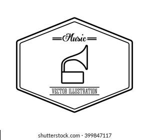 gramaphone icon design, vector illustration