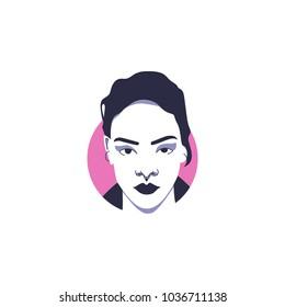 Grammy singer Rihanna in vector illustration isolated