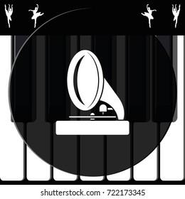Gramophone icon.