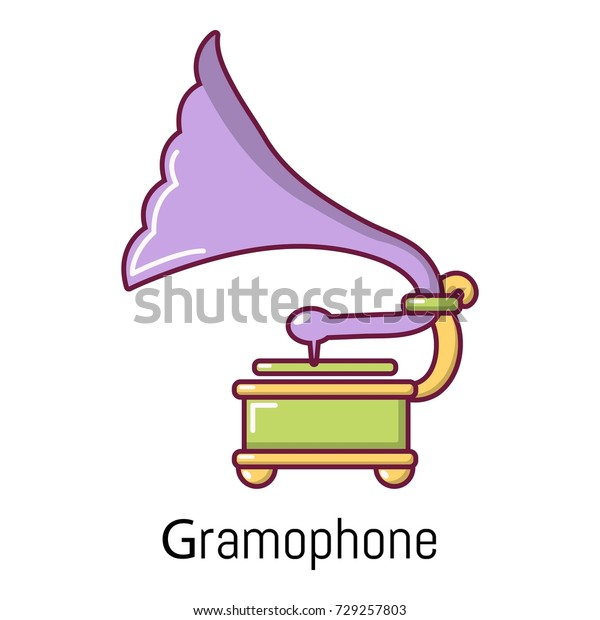 gramophone icon cartoon illustration gramophone vector stock vector royalty free 729257803 shutterstock