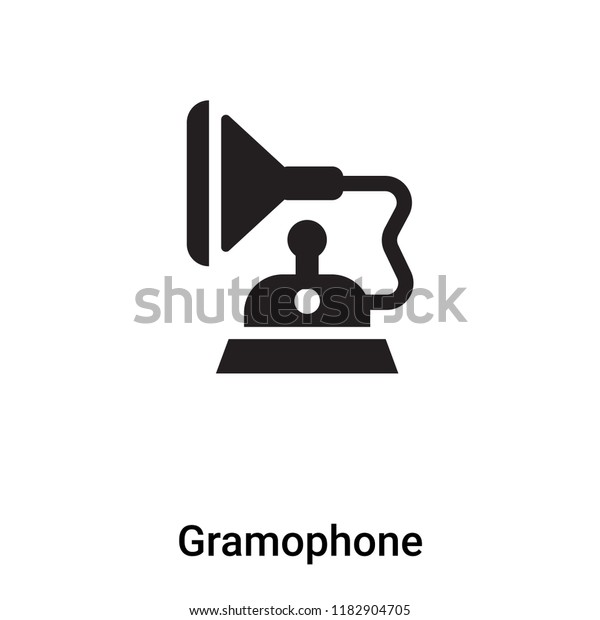 gramophone icon vector isolated on white stock vector royalty free 1182904705 shutterstock