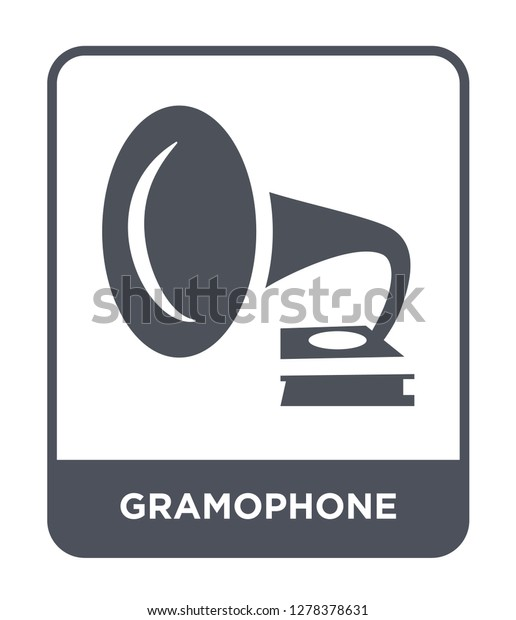 gramophone icon vector on white background stock vector royalty free 1278378631 shutterstock