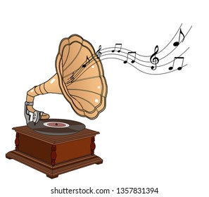 Gramophone might refer to: A phonograph, the first device for recording and replaying sound; Gramophone record, also called vinyl or phonograph record.