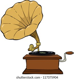 Gramophone on a white background vector illustration