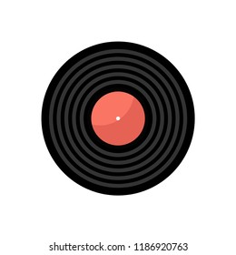 Gramophone record icon . Elements in flat design.