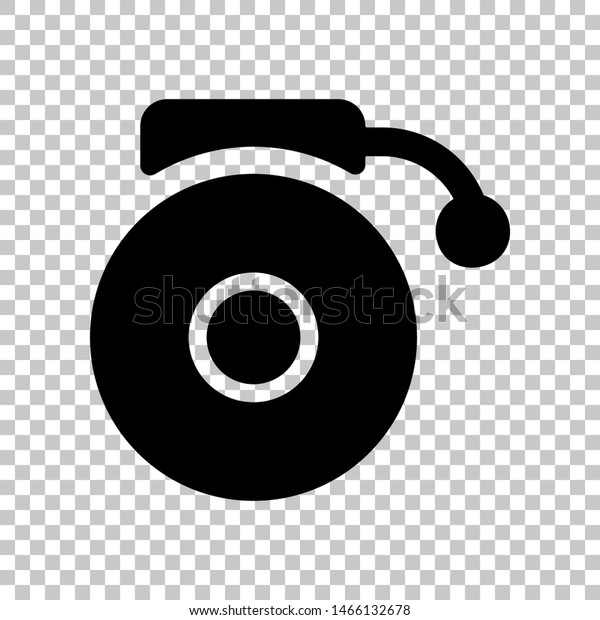 gramophone sign black icon on transparent stock vector royalty free 1466132678 shutterstock