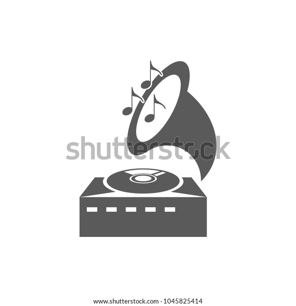 gramophone vector icon stock vector royalty free 1045825414 shutterstock
