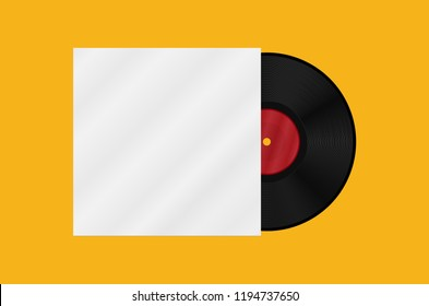 Gramophone vinyl LP record template. Vector illustration