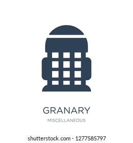 granary icon vector on white background, granary trendy filled icons from Miscellaneous collection, granary vector illustration