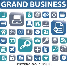 grand business buttons. vector