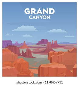 Grand Canyon National Park of USA America Purple Orange Mountain Desert