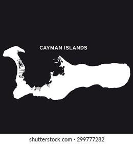 Grand Cayman Island map vector