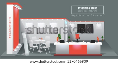 Exhibition Stand Free Vector : Grand exhibition stand display mock up stock vector royalty free