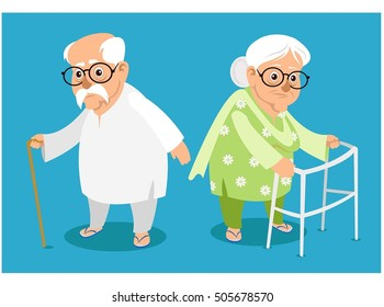 grand father & grand mother