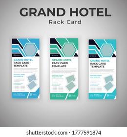 Grand Hotel Services Rack Card Or Dl Flyer Template Design