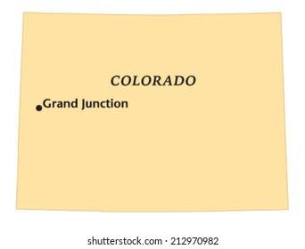 Grand Junction, Colorado locate map