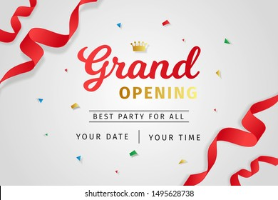 Grand opening background realistic style