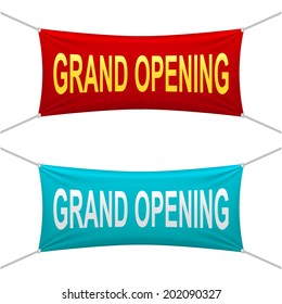 Grand Opening banner. Vector illustrations.