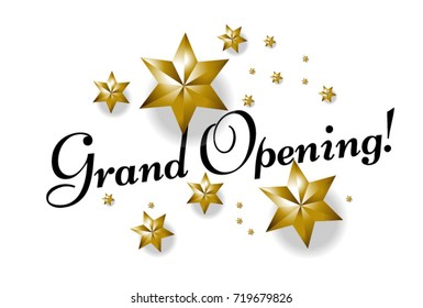 Grand Opening, Beautiful greeting card poster