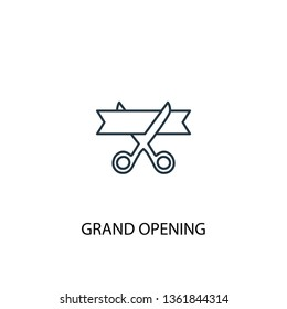 grand opening concept line icon. Simple element illustration. grand opening concept outline symbol design. Can be used for web and mobile UI/UX