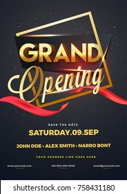 Grand opening flyer or invitation card.