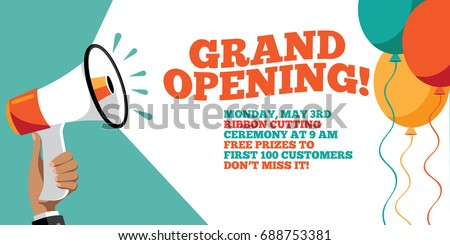 grand opening flyer marketing banner background のベクター画像素材